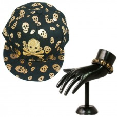 Combo of skull design cap and wristband