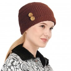 Brown Winter Woolen Womens Headband Earwarmer Earmuff