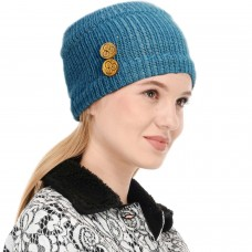 Bright Blue Winter Woolen Womens Headband Earwarmer Earmuff