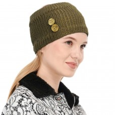 Khaki Winter Woolen Womens Headband Earwarmer Earmuff