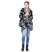Black and White Patterned Shrug