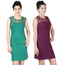 Pack of two lace shift dress