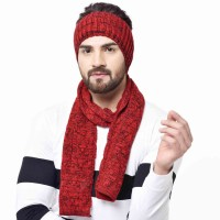 Unisex Knitted Woollen Combo of Muffler and Headband