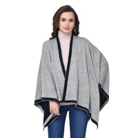 Black and Grey reversible Cape