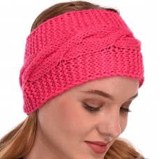 Pink Winter Woolen Womens Headband Earwarmer Earmuff